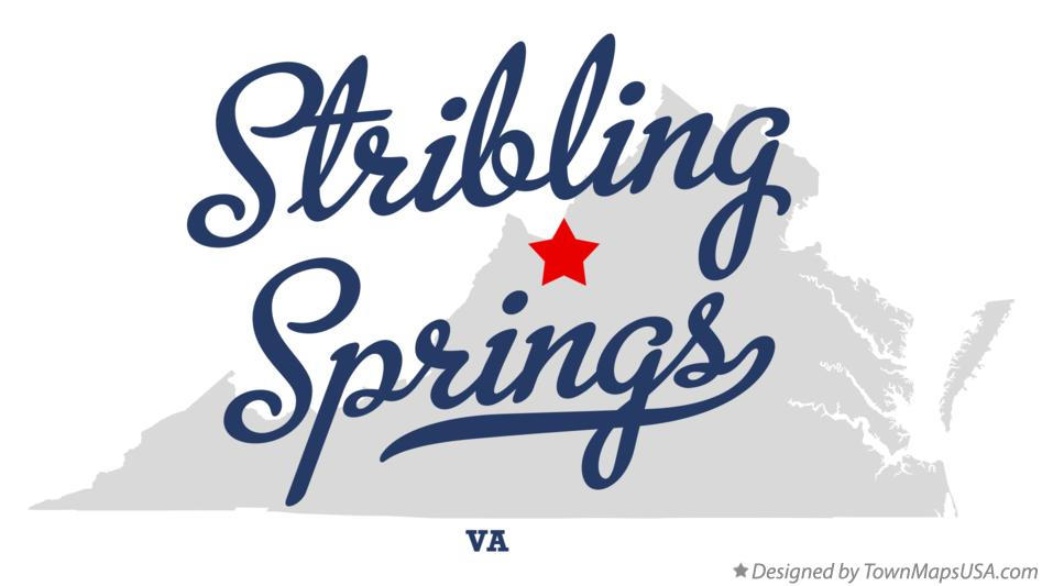 Map of Stribling Springs Virginia VA