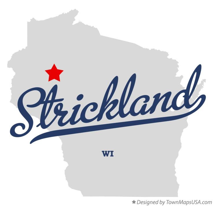 Map of Strickland Wisconsin WI