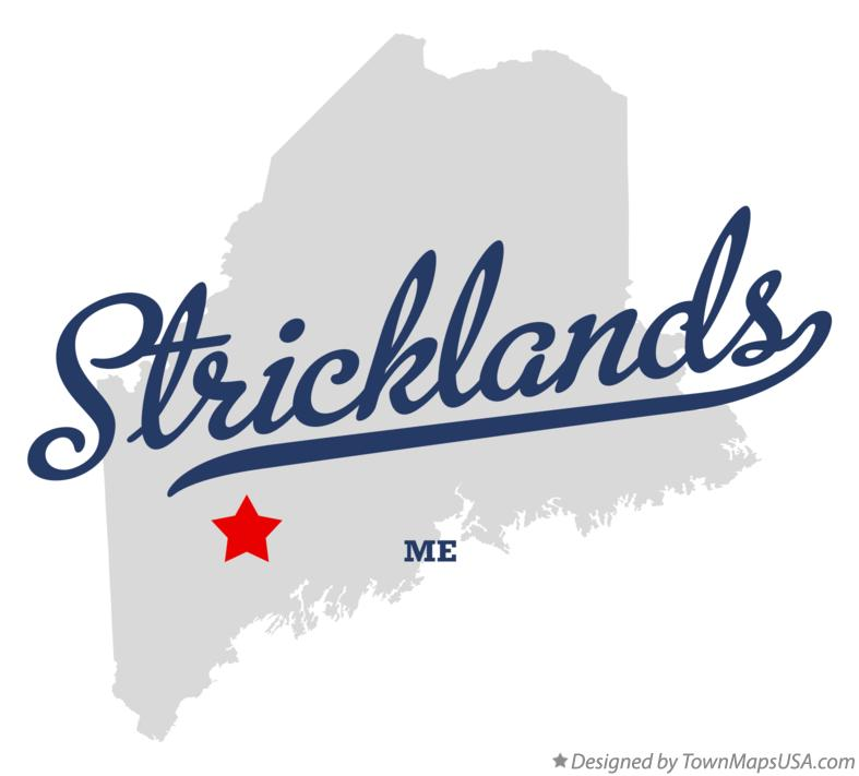 Map of Stricklands Maine ME