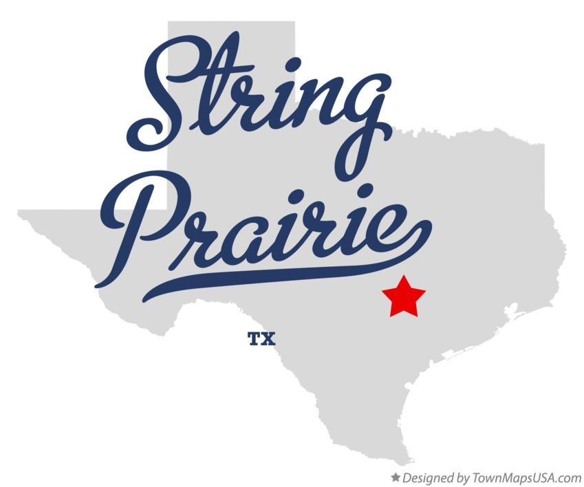 Map of String Prairie Texas TX