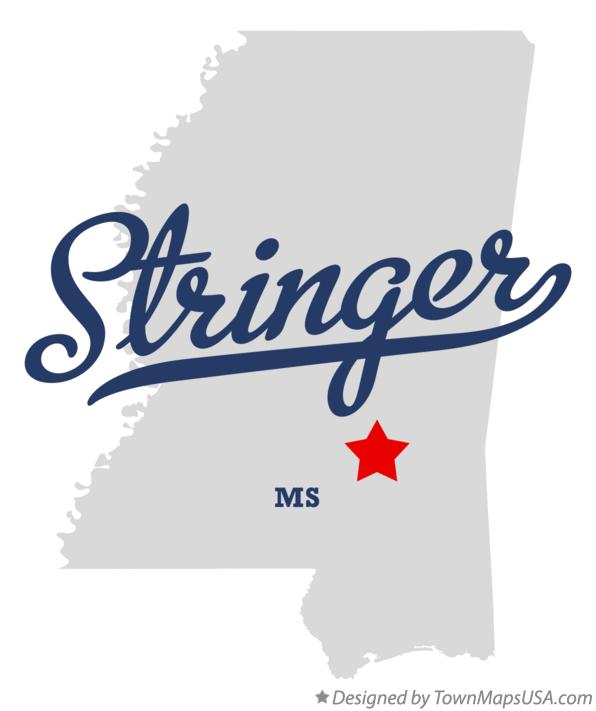Map of Stringer Mississippi MS