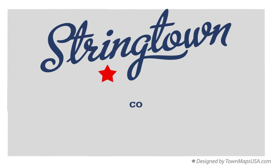 Map of Stringtown Colorado CO