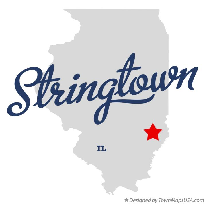 Map of Stringtown Illinois IL