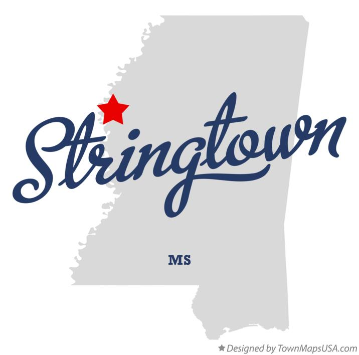 Map of Stringtown Mississippi MS