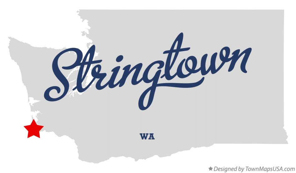 Map of Stringtown Washington WA