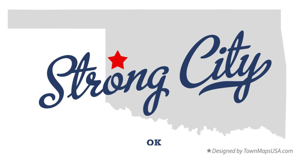 Map of Strong City Oklahoma OK