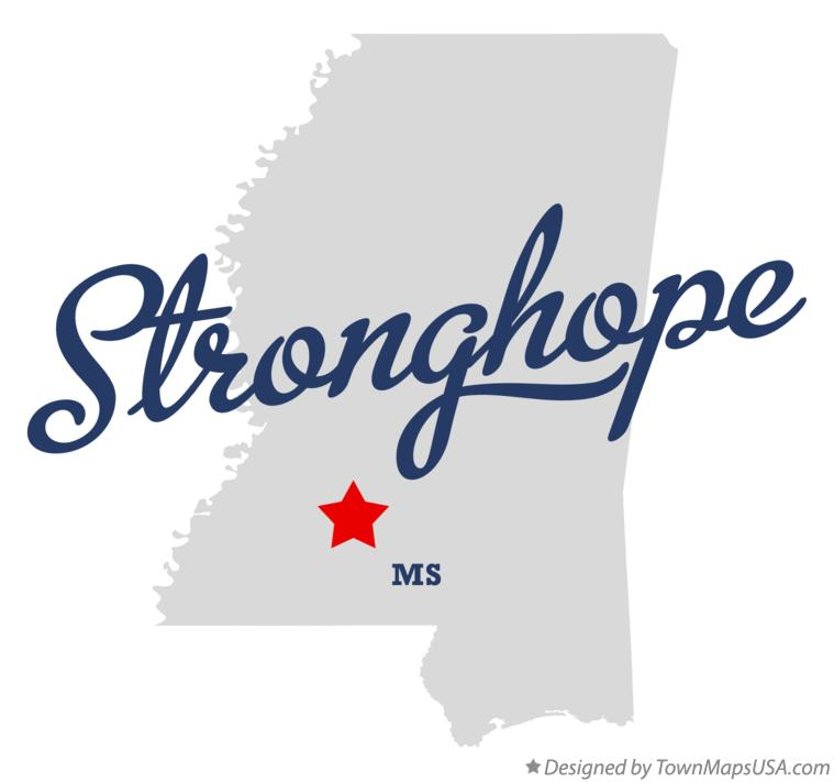 Map of Stronghope Mississippi MS