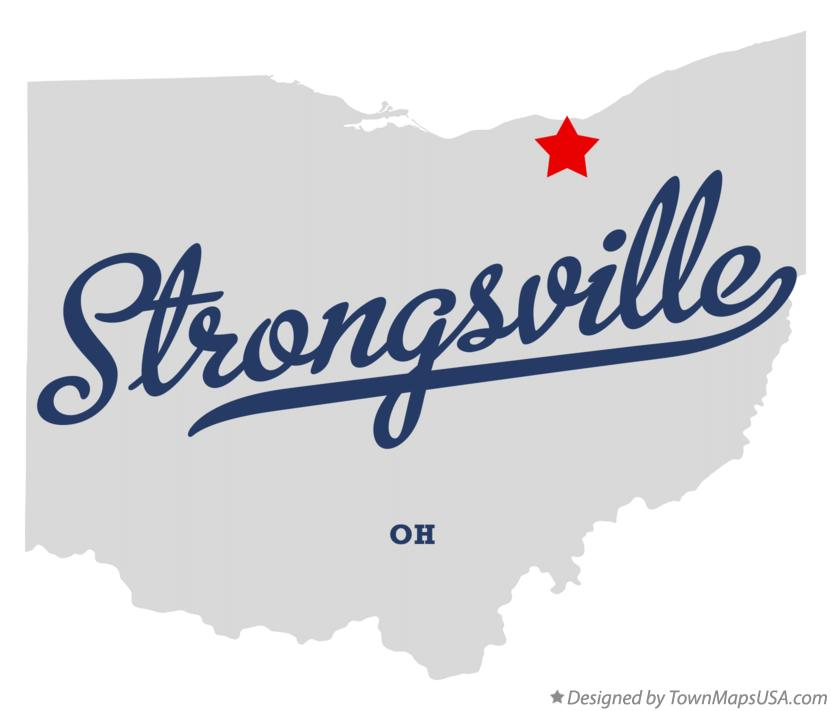 Map of Strongsville Ohio OH