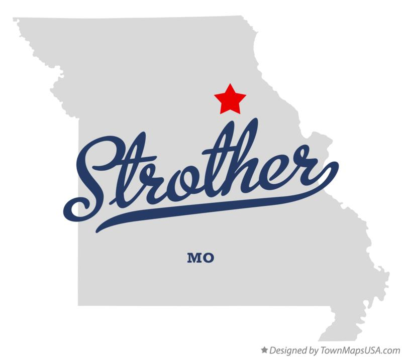 Map of Strother Missouri MO