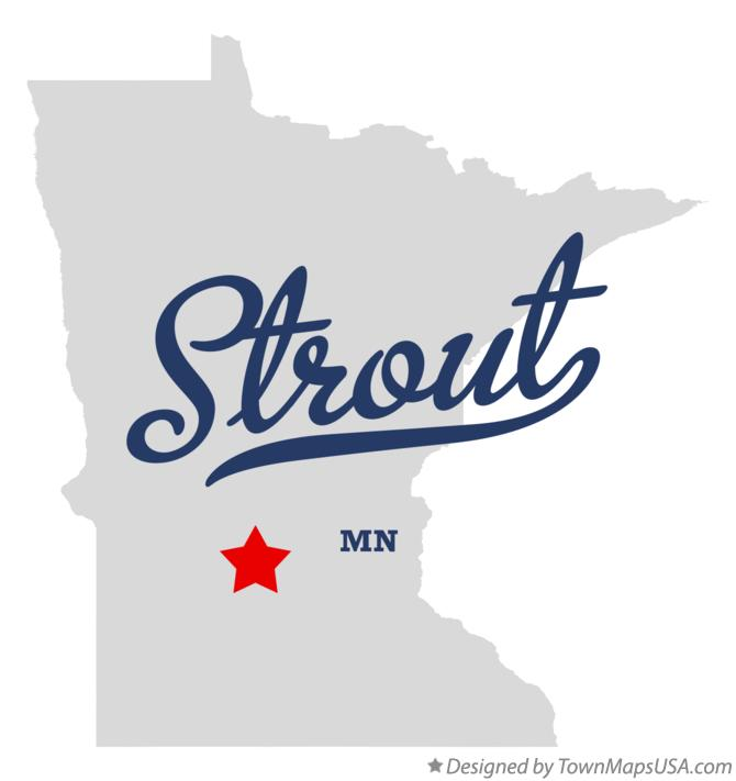 Map of Strout Minnesota MN