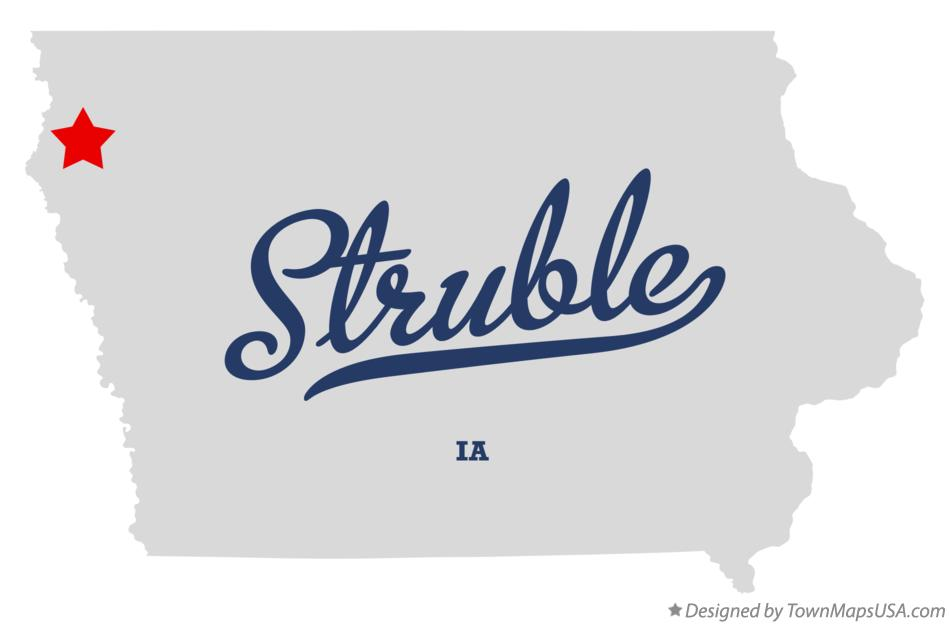 Map of Struble Iowa IA
