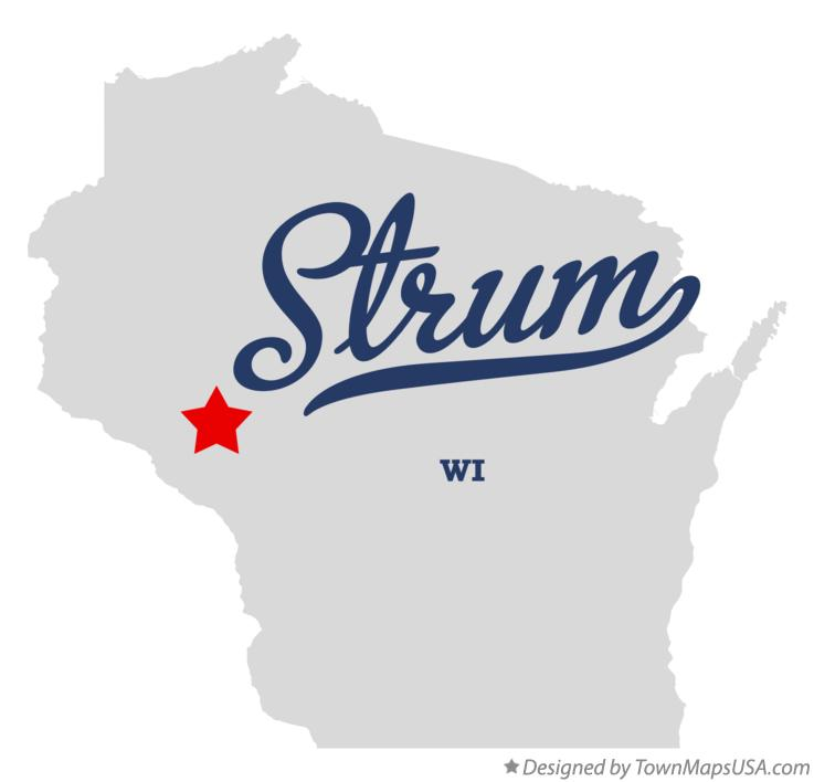 Map of Strum Wisconsin WI