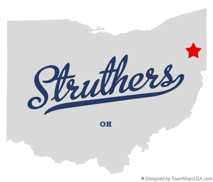 Map of Struthers Ohio OH