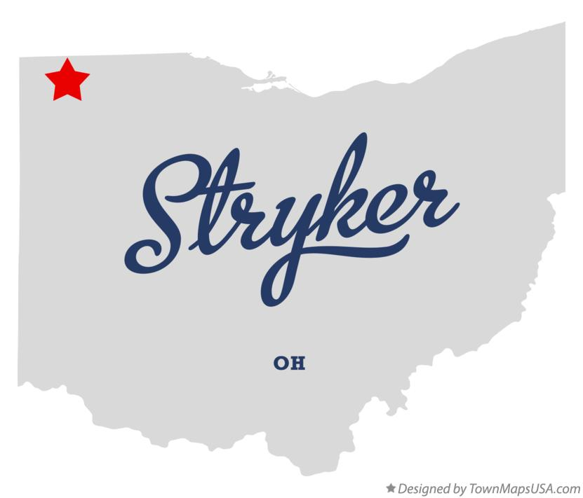 Map of Stryker Ohio OH