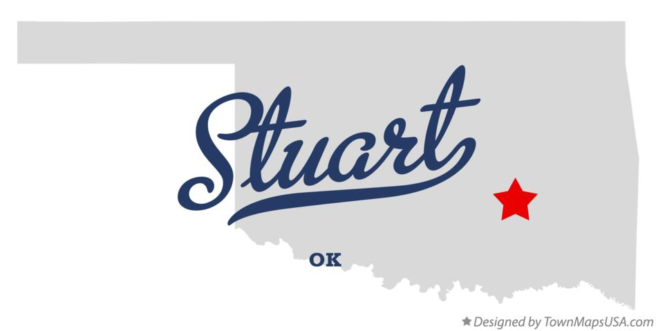 Map of Stuart Oklahoma OK