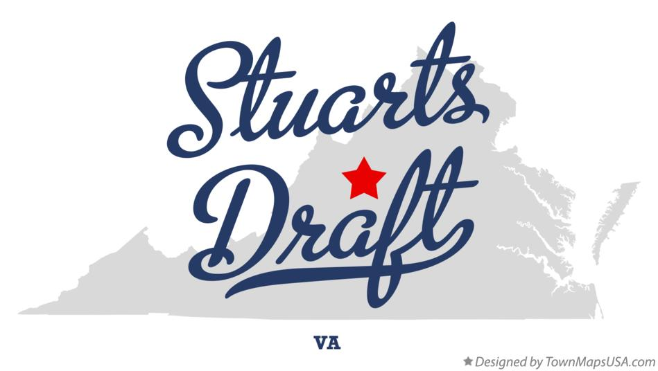 Map of Stuarts Draft Virginia VA
