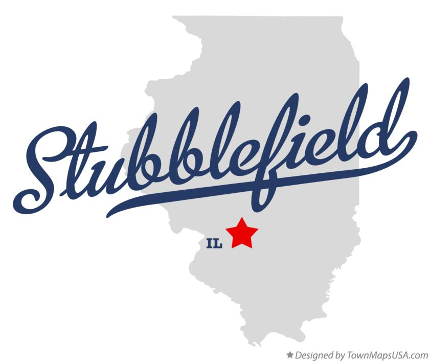 Map of Stubblefield Illinois IL