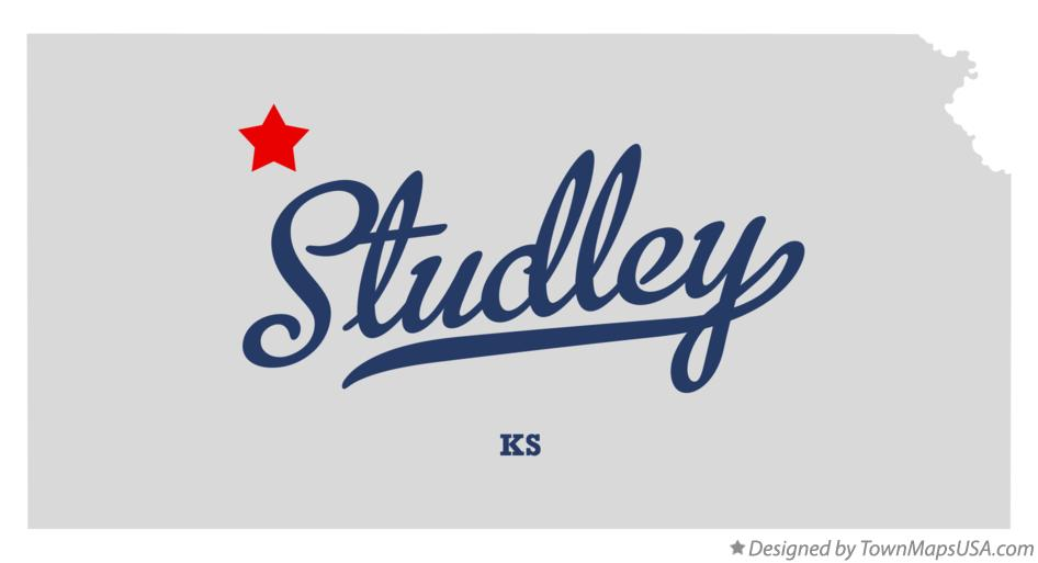 Map of Studley Kansas KS