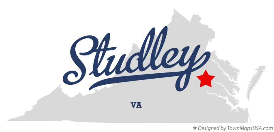 Map of Studley Virginia VA
