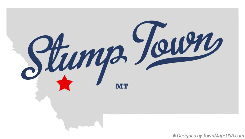Map of Stump Town Montana MT