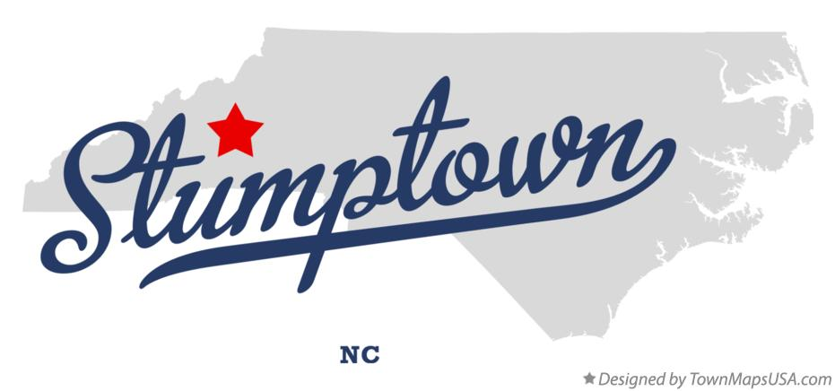Map of Stumptown North Carolina NC