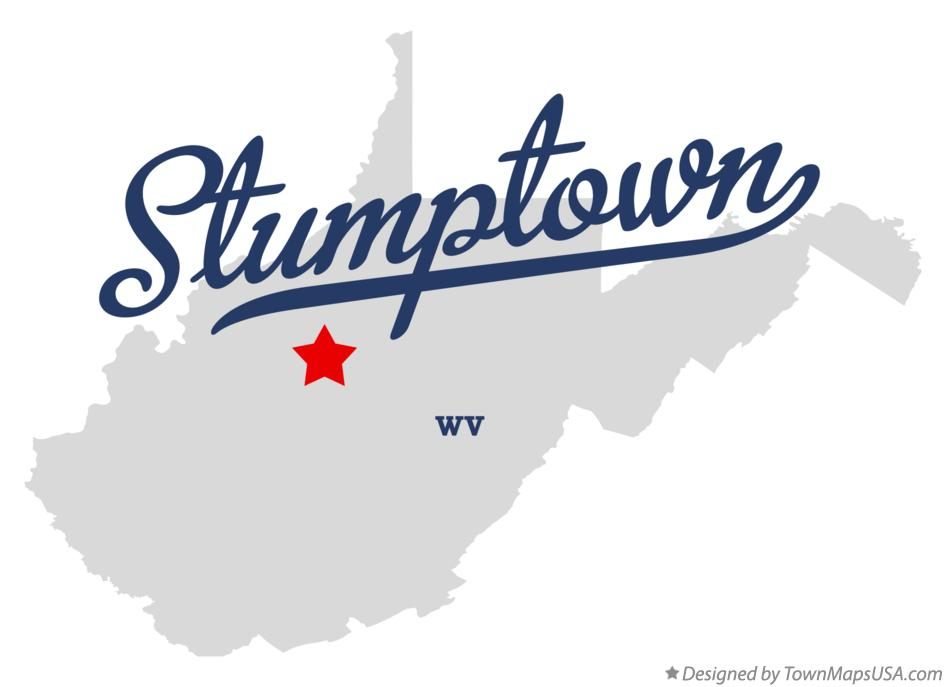 Map of Stumptown West Virginia WV