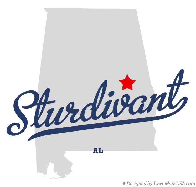 Map of Sturdivant Alabama AL
