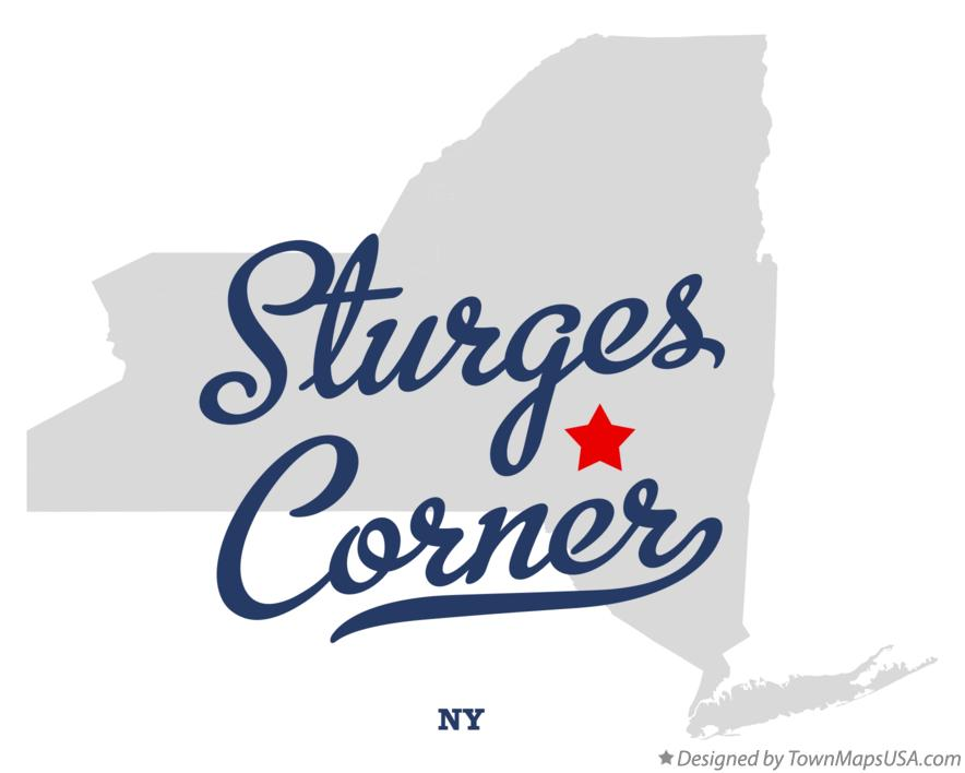 Map of Sturges Corner New York NY