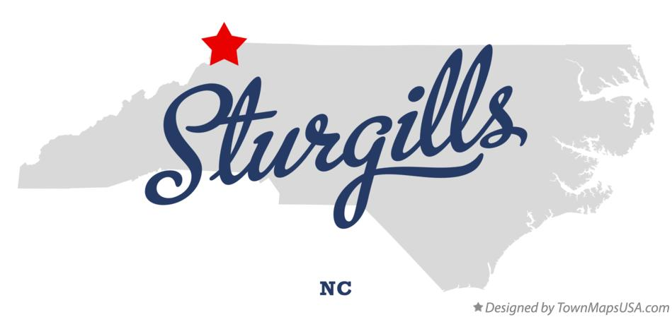 Map of Sturgills North Carolina NC