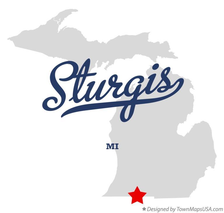 Map Of Sturgis Mi Michigan