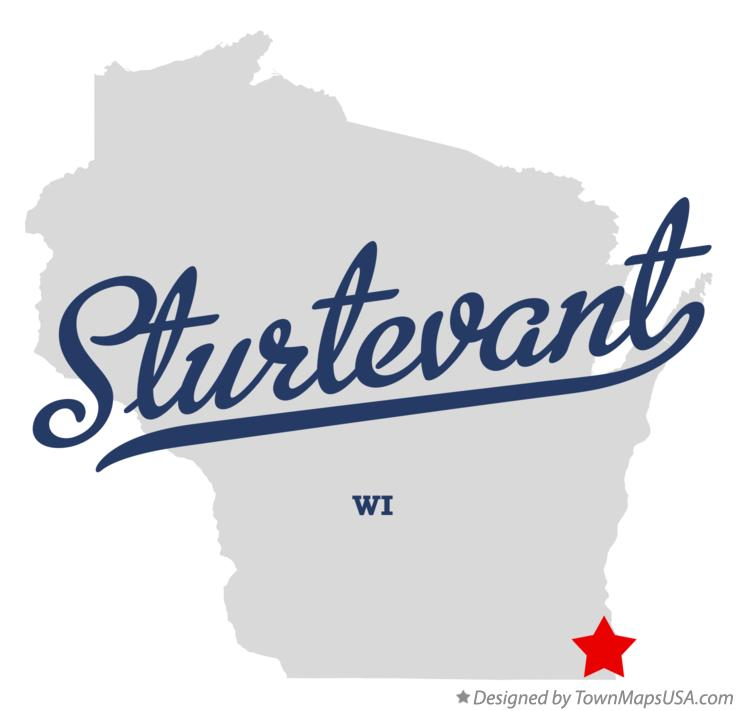Map of Sturtevant Wisconsin WI