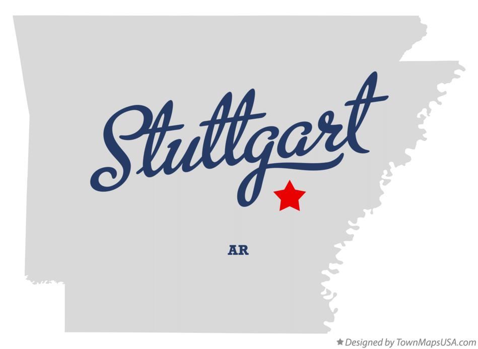 Map of Stuttgart Arkansas AR