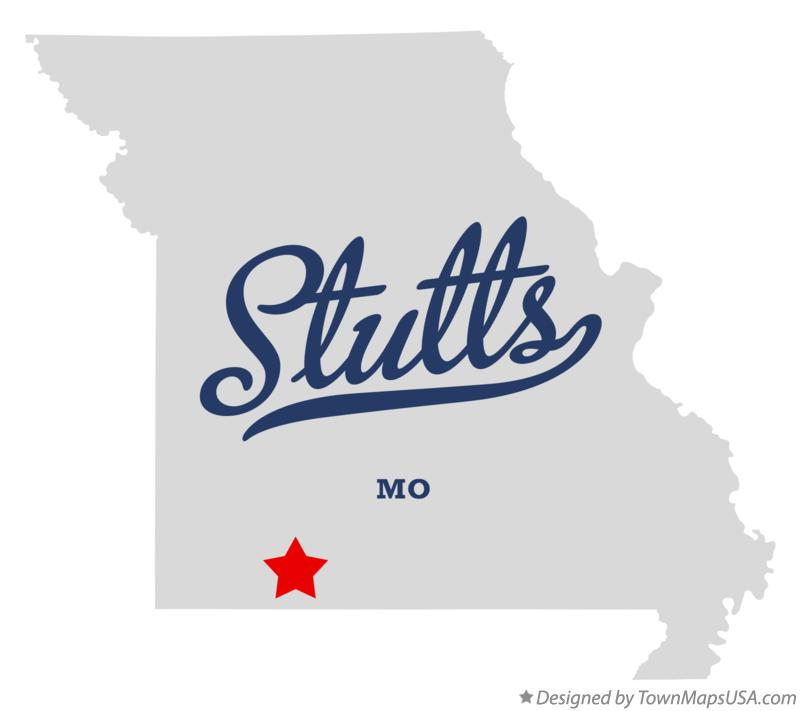 Map of Stutts Missouri MO