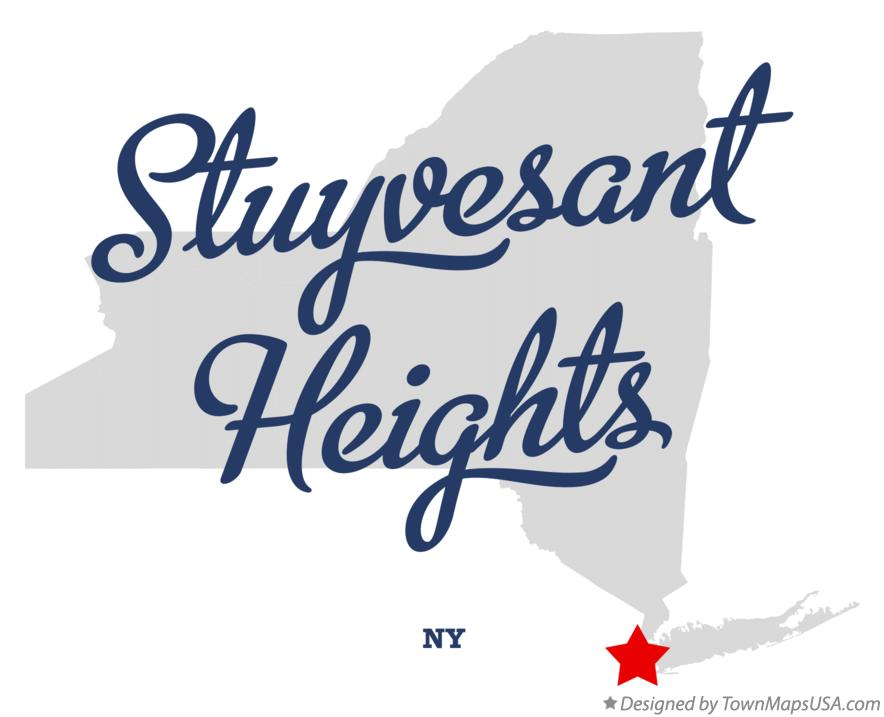 Map of Stuyvesant Heights New York NY