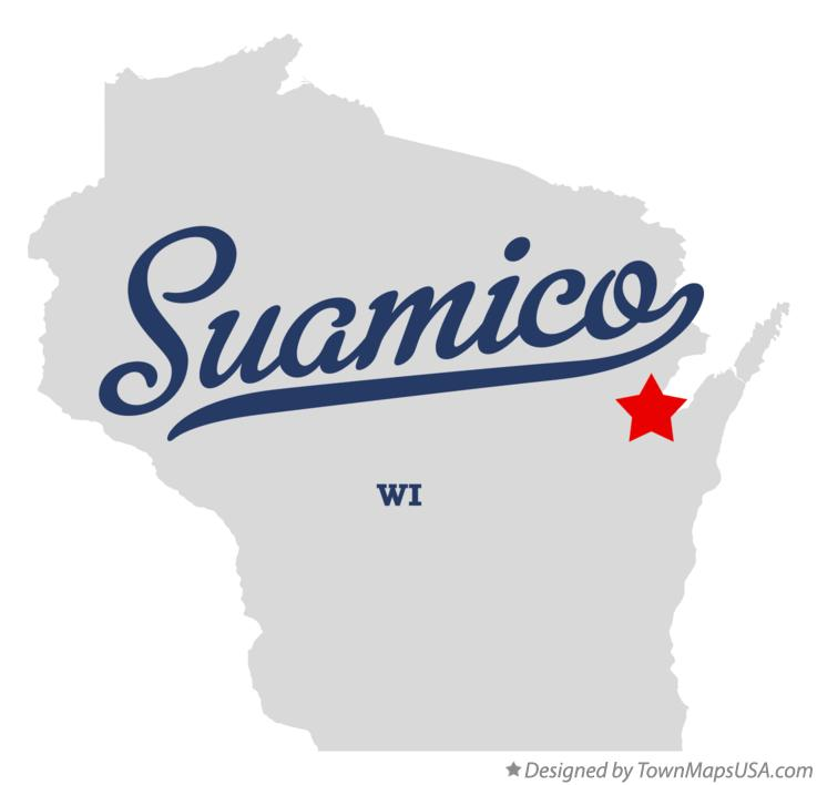 Map of Suamico Wisconsin WI