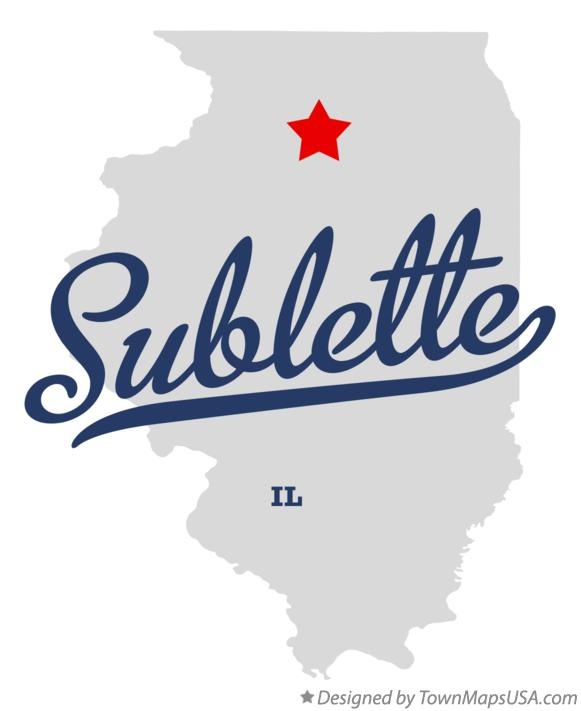 Map of Sublette Illinois IL