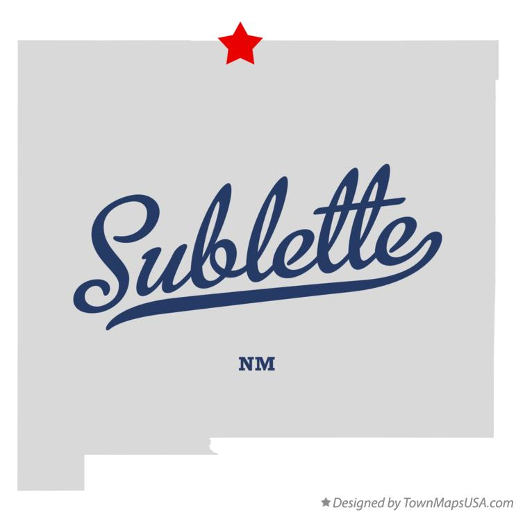 Map of Sublette New Mexico NM