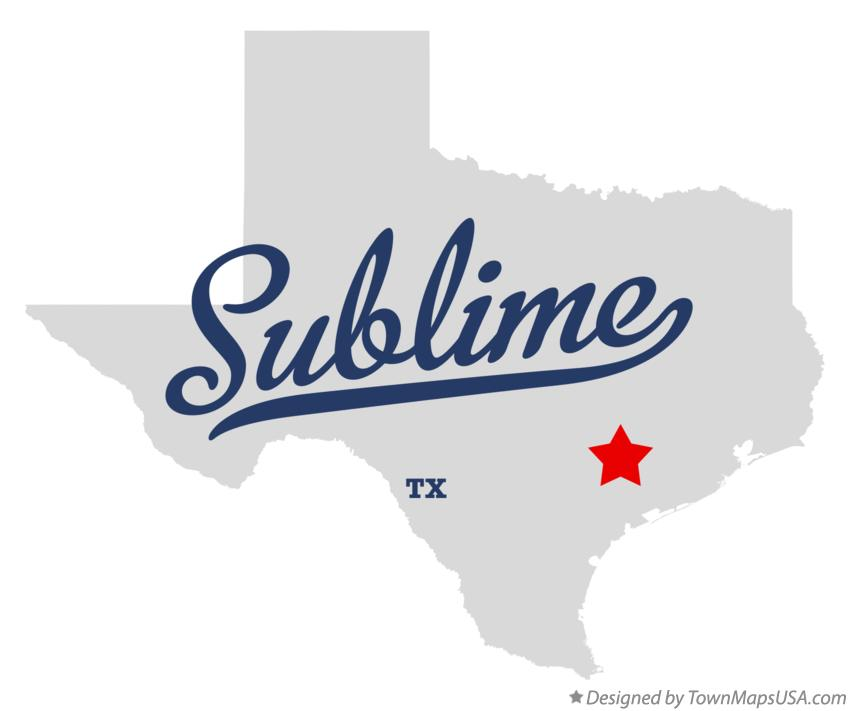 Map of Sublime Texas TX