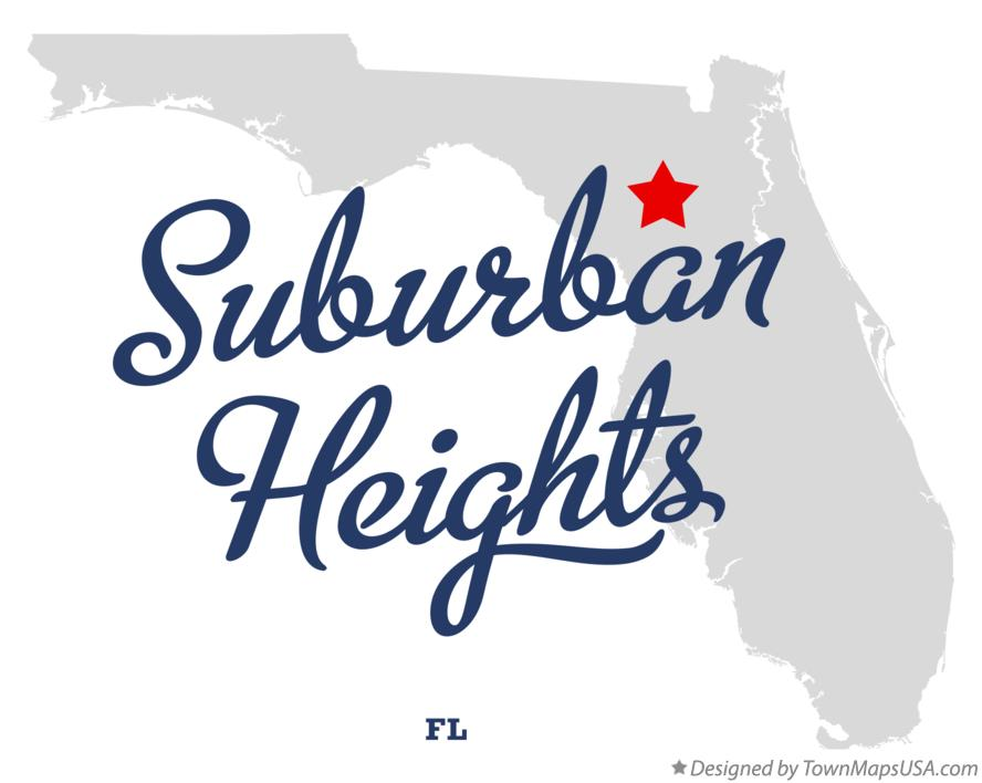 Map of Suburban Heights Florida FL