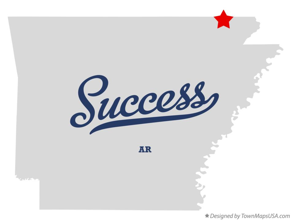 Map of Success Arkansas AR