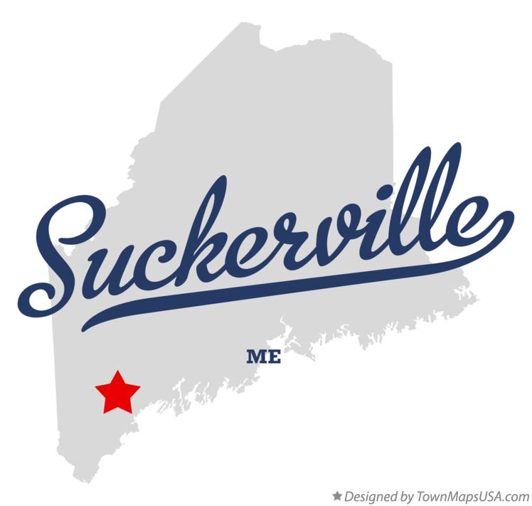 Map of Suckerville Maine ME