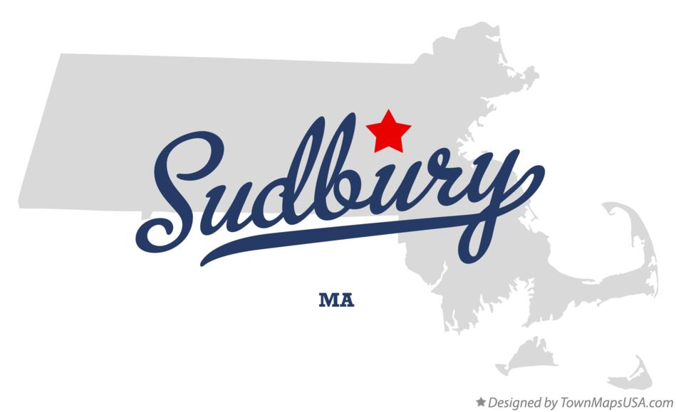 Map of Sudbury Massachusetts MA