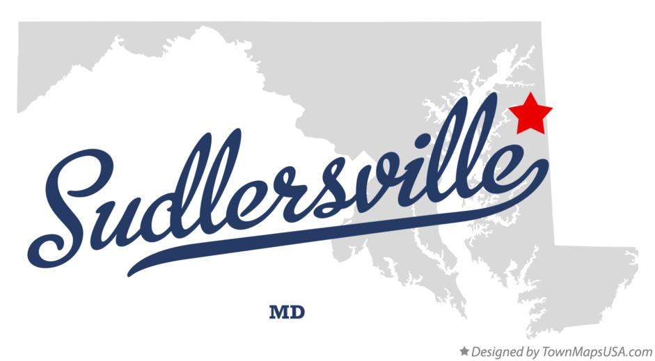 Map of Sudlersville Maryland MD