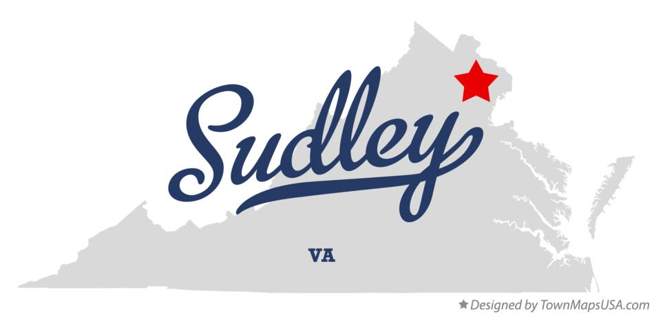 Map of Sudley Virginia VA