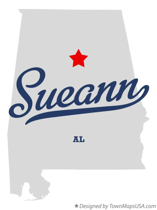 Map of Sueann Alabama AL