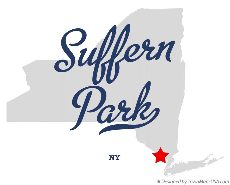 Map of Suffern Park New York NY
