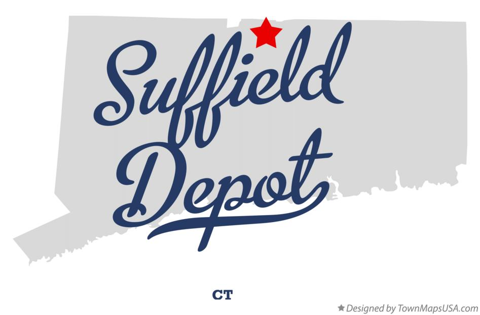 Map of Suffield Depot Connecticut CT