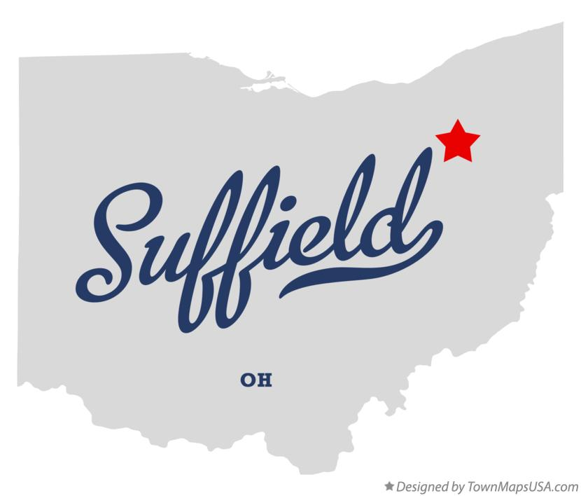 Map of Suffield Ohio OH
