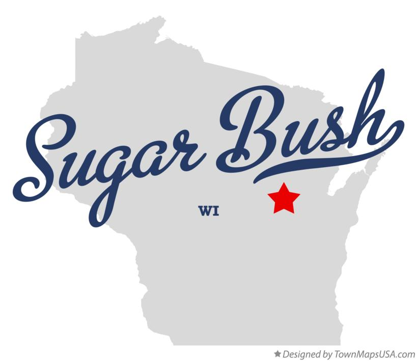 Map of Sugar Bush Wisconsin WI