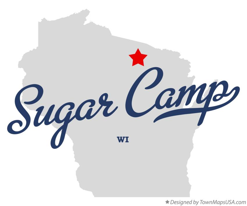 Map of Sugar Camp Wisconsin WI